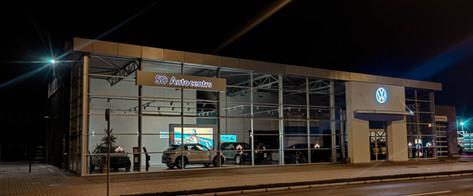"""""""SD Autocentrs"""" servisa ēkas piebūve."""