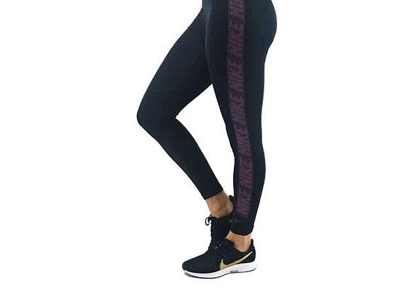טייץ שחור סגול לנשים Nike Pro Training