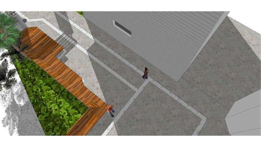 תכנון פיתוח רחבת כניסה למרכז קהילתי עירוני