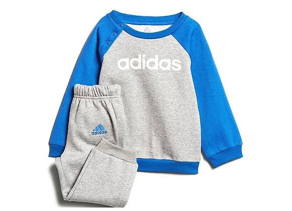 חליפת פוטר אדידס לילדים בצע אפור וכחול