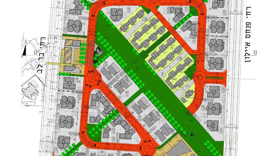 תכנית בינוי לשכונת מגורים בחולון