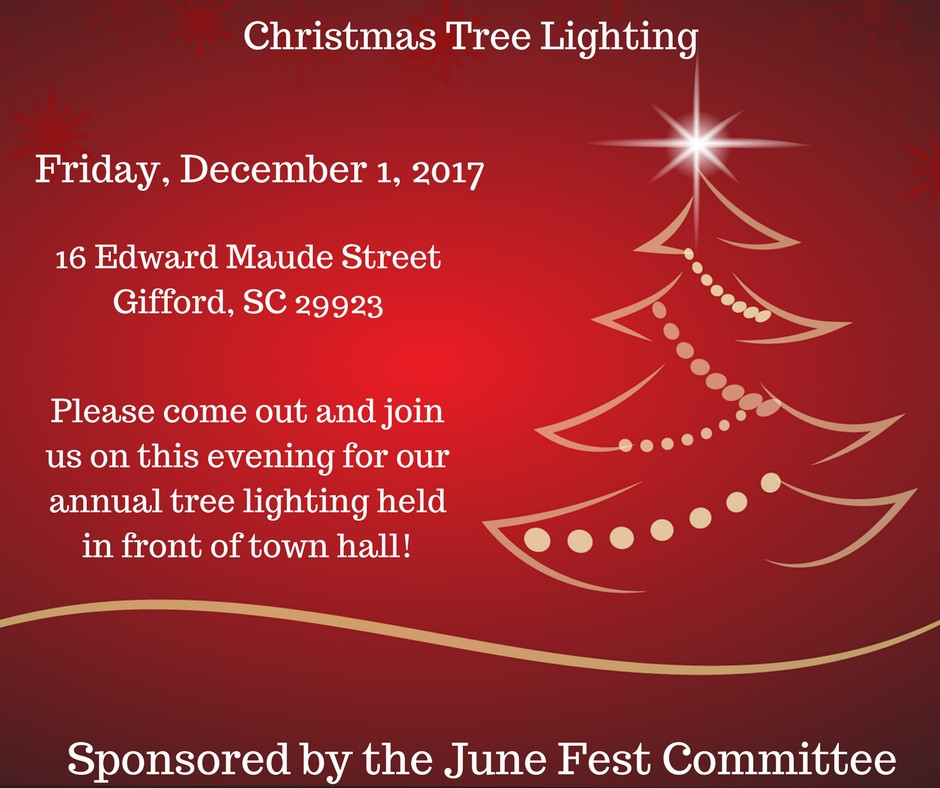 Christmas Tree Lighting 2017