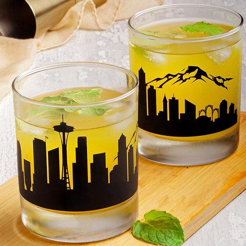 Seattle Whiskey Glass - Set of 2