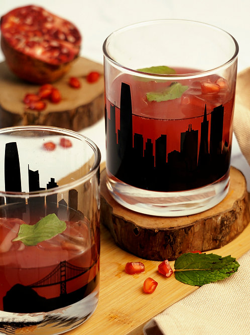 San Francisco Whiskey Glass - Set of 2