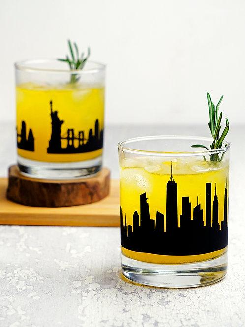 New York Whiskey Glass - Set of 2