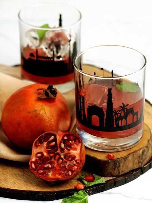 Delhi Whiskey Glass- Set of 2