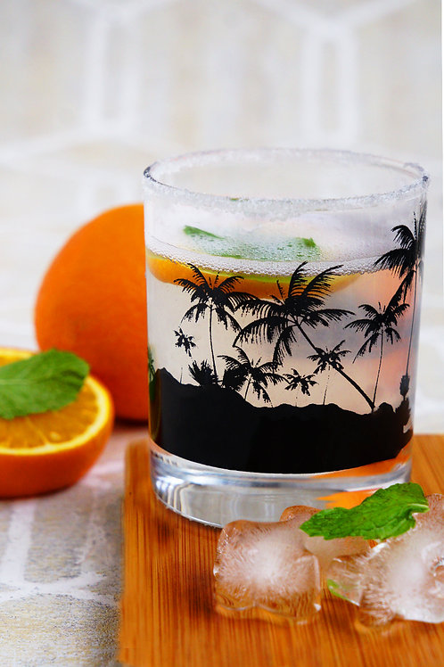 Tropical Whiskey Glass- Set of 2