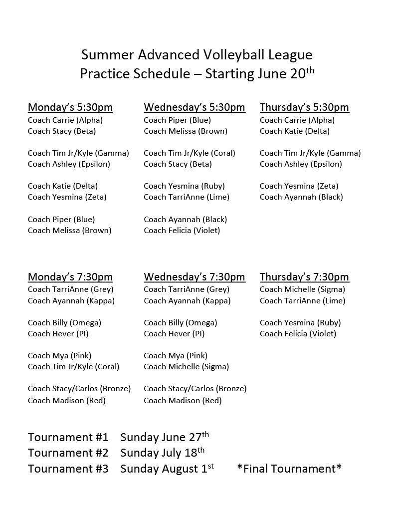 Final schedule for advanced league1024_1