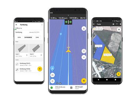 Download FieldBee RTK GPS app om te sturen