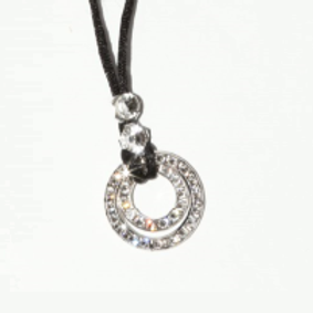 Swarovski® Rope Necklace with Silver or Gold trim