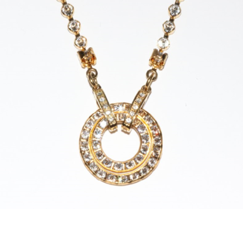 Swarovski® Cup Crystal Necklace in Silver or Gold