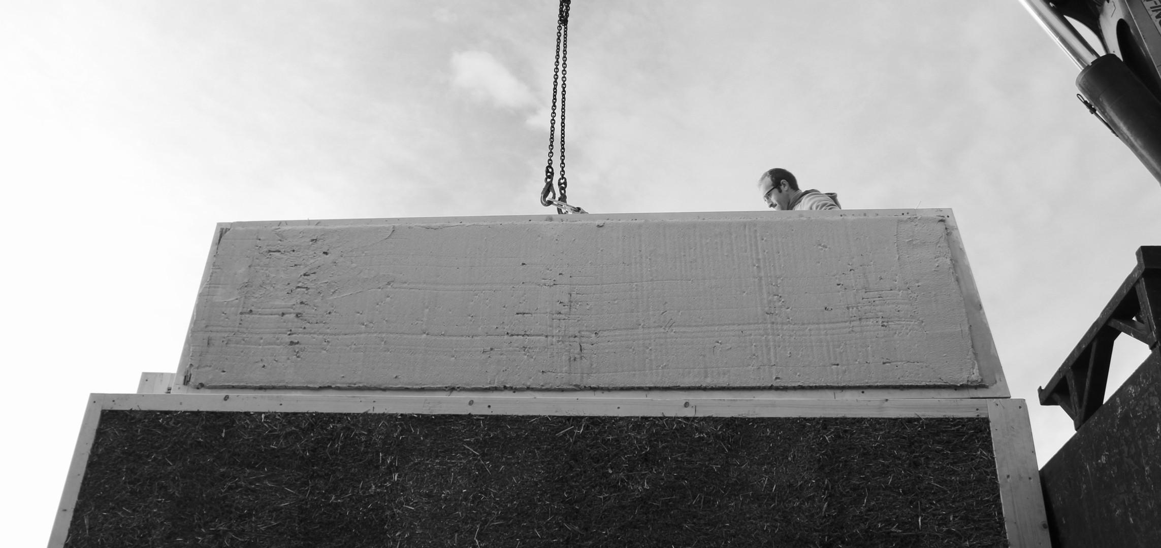 Scarico delle pareti prefabbricate