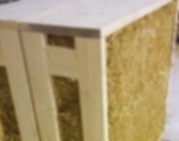 Moduli prefabbricati pannelli case in paglia