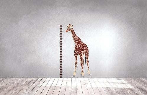 Giraffe Growth Chart Decal