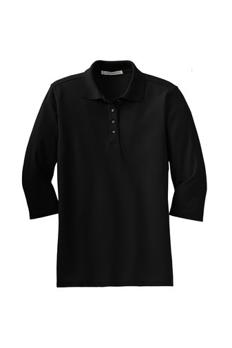 Port Authority® Ladies Silk Touch™ 3/4-Sleeve Polo