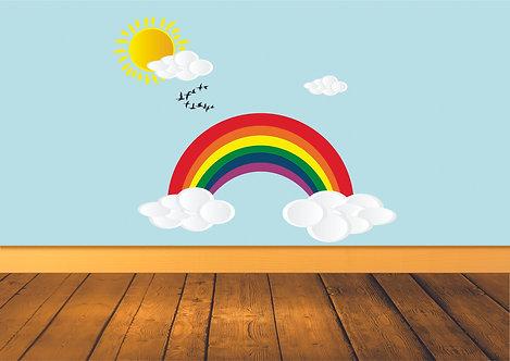 Sky and Rainbow Wall Decal