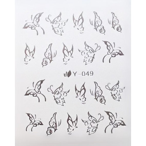 Water Decal - Silver 5