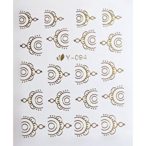 Water Decal - Gold 13
