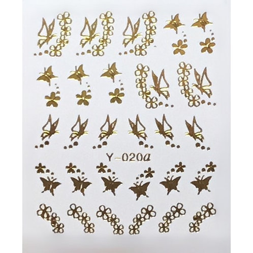 Water Decal - Gold 19