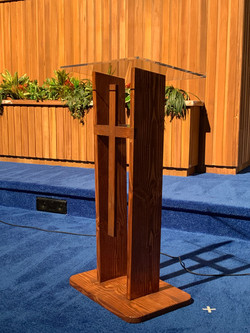 Close Up of Acrylic Topped Lectern