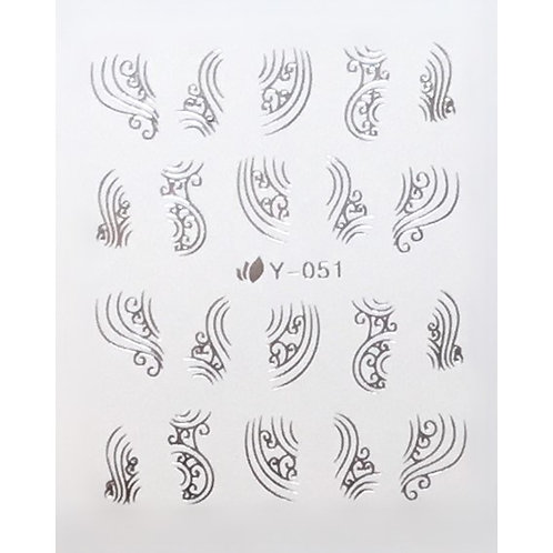 Water Decal - Silver 3