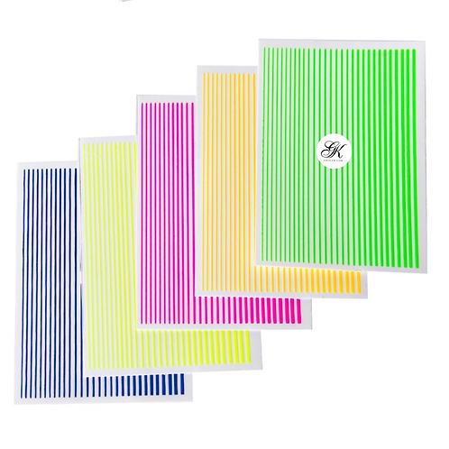 Flexible Line Stickers Bright Colours