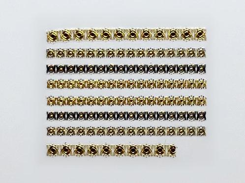 Gold & Black 695