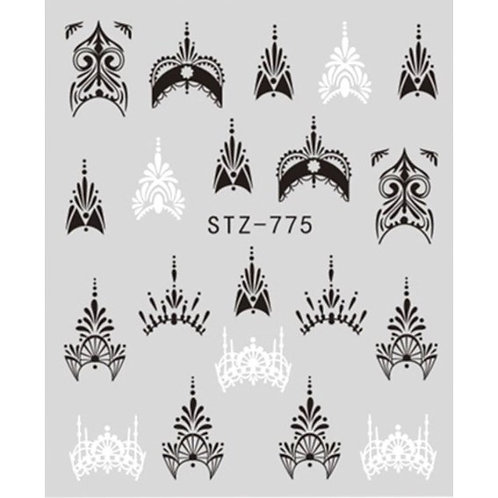 Water Decal - Black & White 1