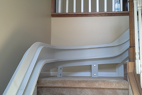 Curved Stairlift System 90 Degree Turn