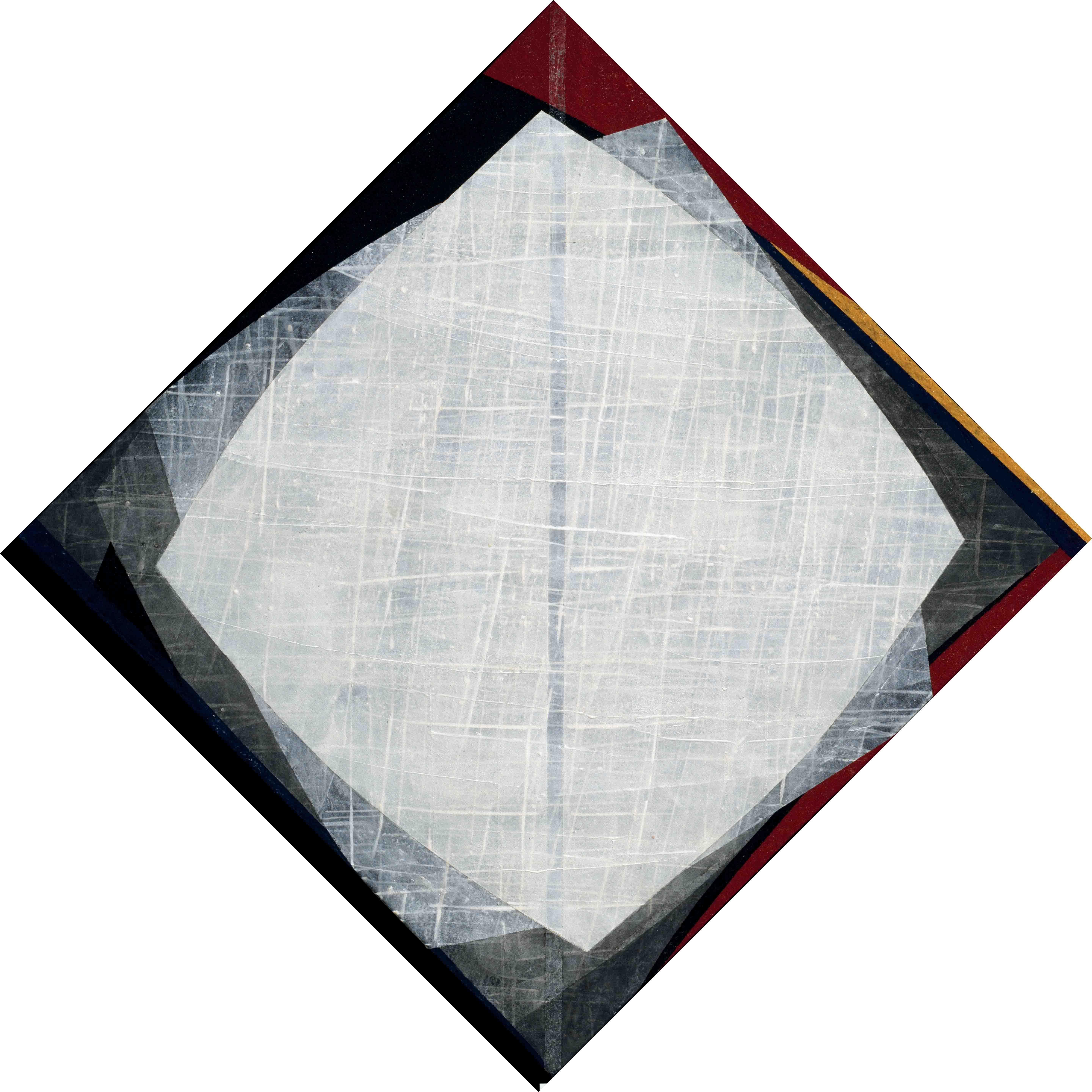결, 84×84cm  한지,먹,석채,2006