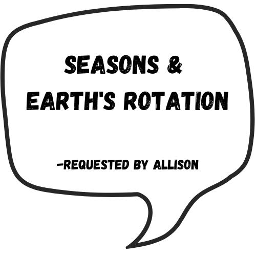 Seasons & Earth's Rotation
