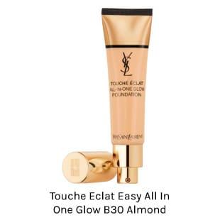 YSL TOUCHE ECLAT ALL IN ONE GLOW FOUNDATION. Base de maquillaje de textura liviana y acabado semi luminoso para todo tipo de piel.