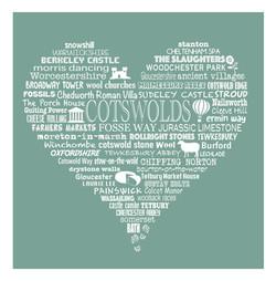 Cotswold Heart - Moss Green