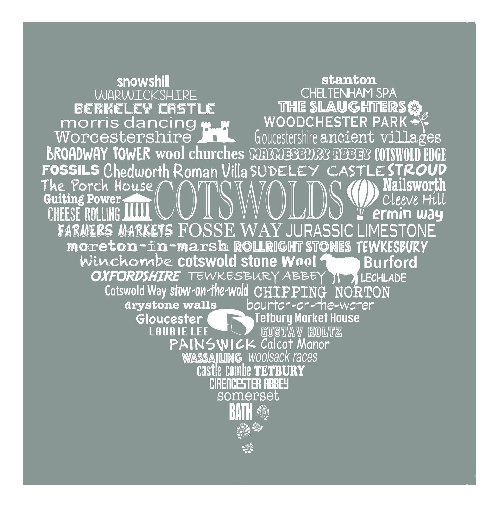 Cotswold Heart - Limestone Grey