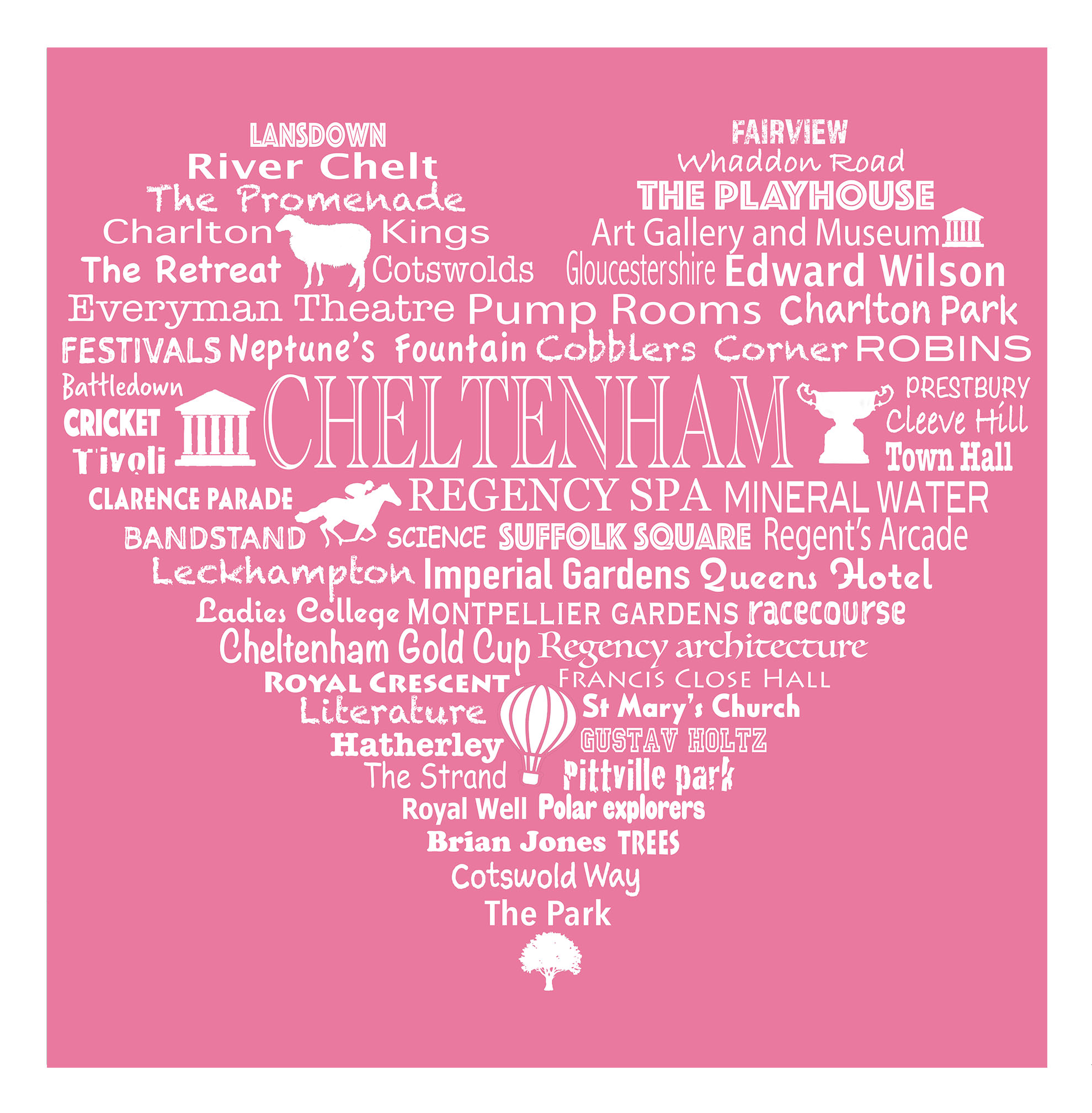 Cheltenham Heart - Rose