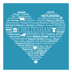 Cheltenham Heart - Bright Blue