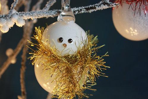 Snowman Bauble - Gold