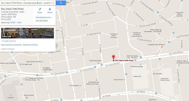 localização dentista maira