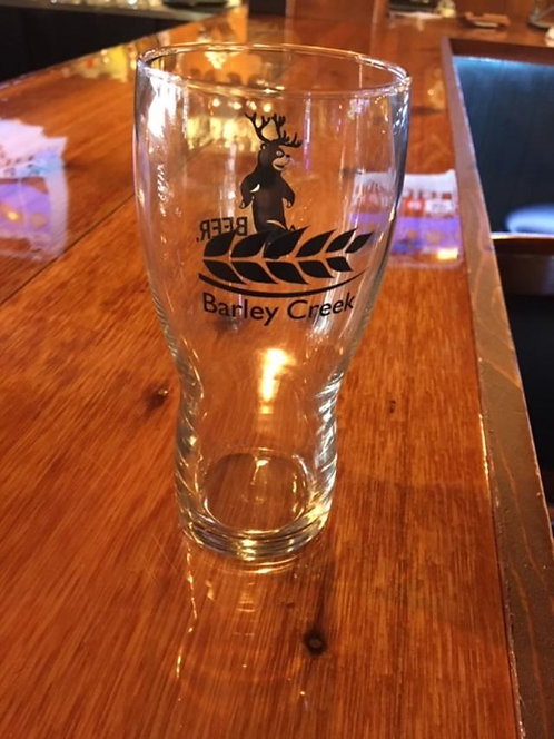 Barley Creek/BEER Rounded Pint Glass