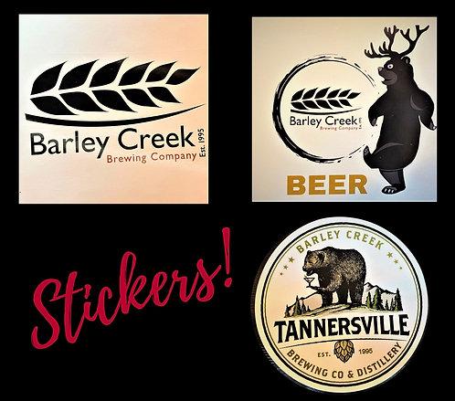 Barley Creek Stickers – 3 pack