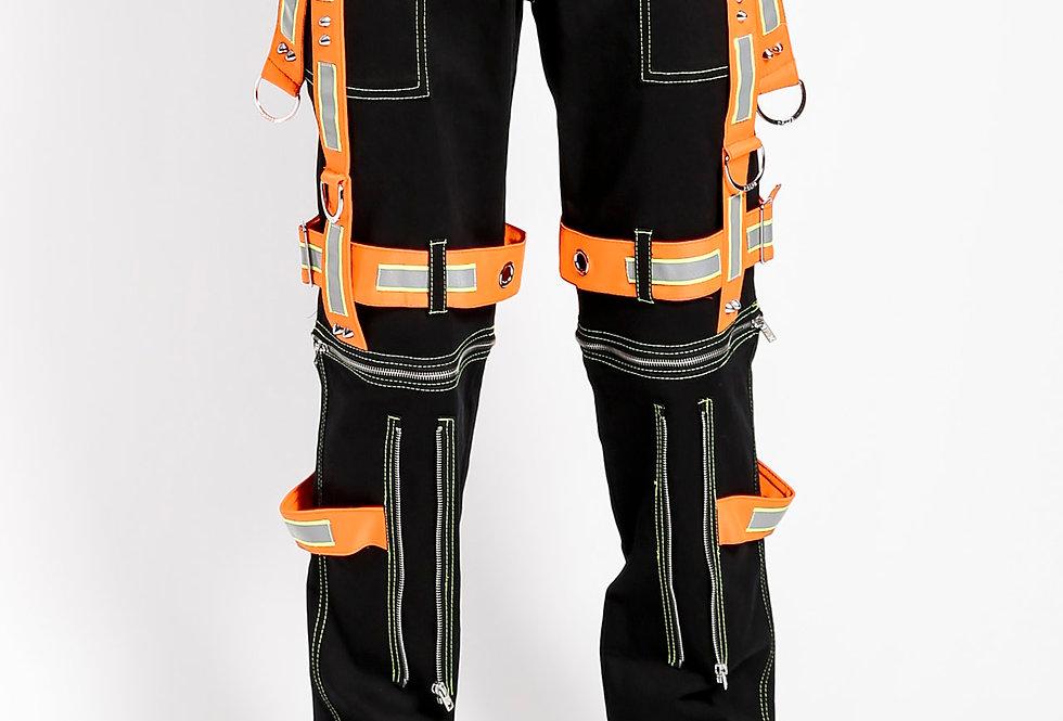 Tripp Black and Orange Energizer Pants