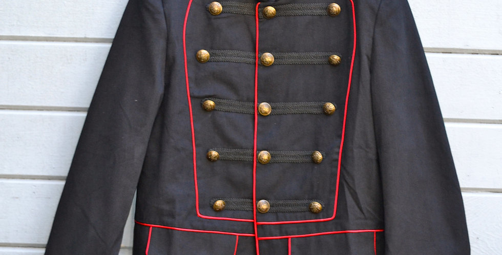 Pentagram Military Jacket with Red Piping
