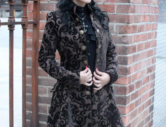 Brown on Brown Damask Coat