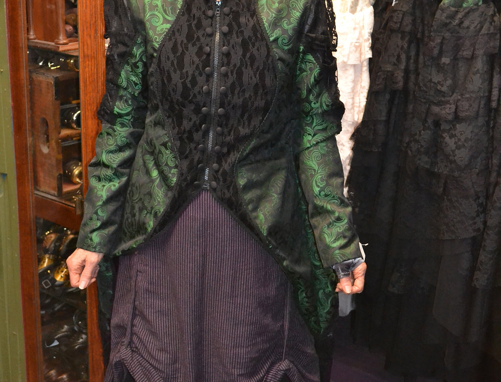 Green and Black Megna Jacket