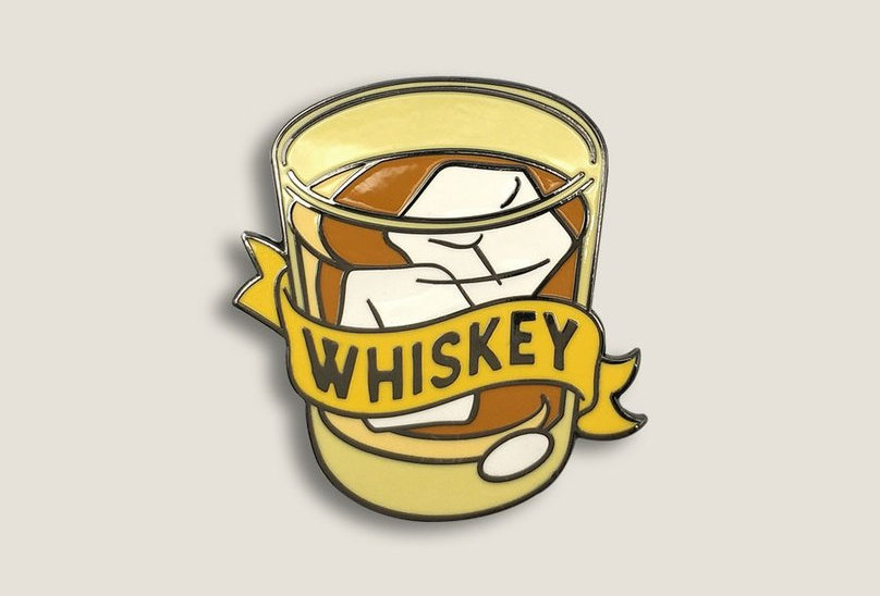 Whisky Glass Enamel Pin