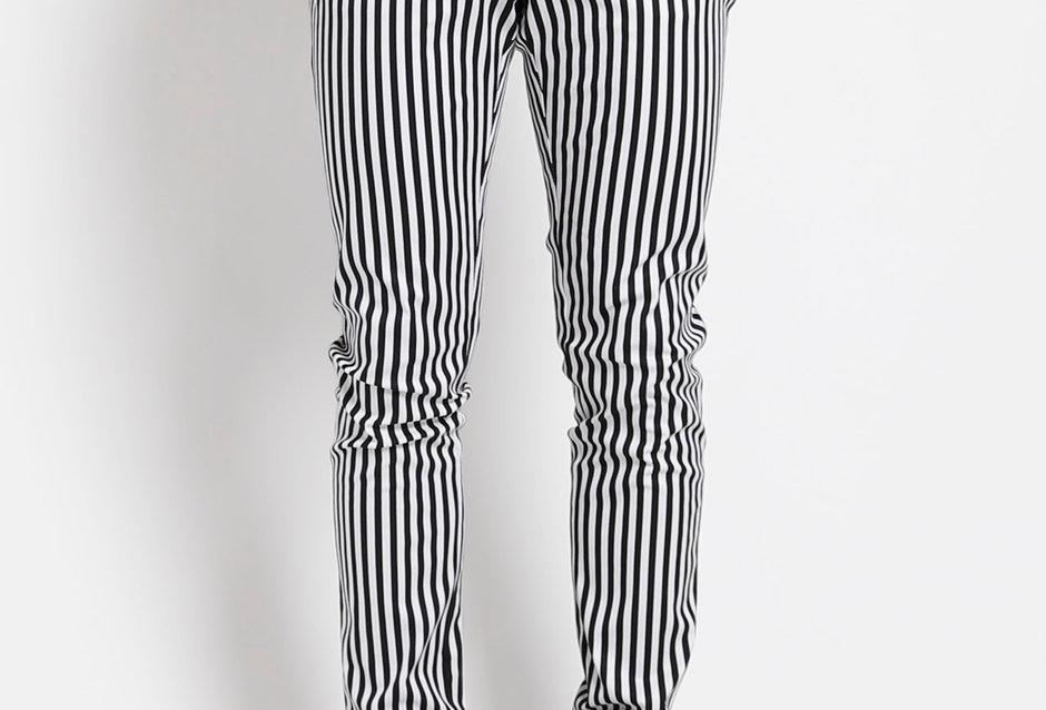 Tripp Black andWhite Thin Striped Pants