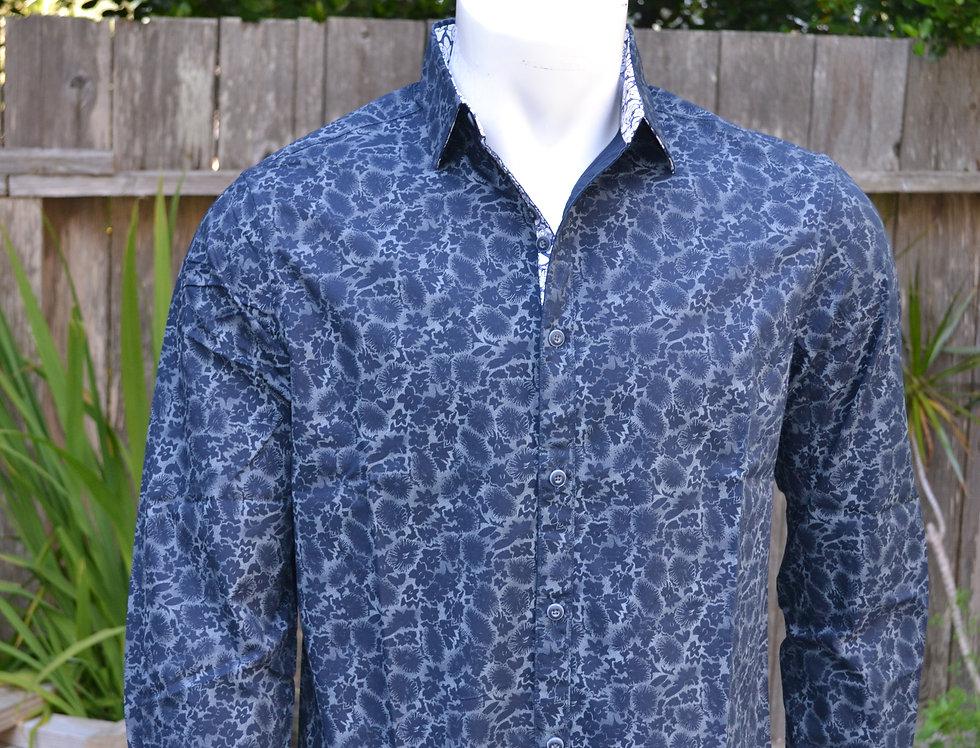 Blue/Grey Cotton Shirt