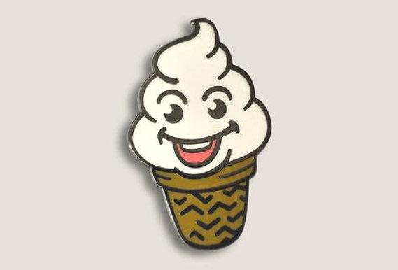Enamel Cupcake Pin