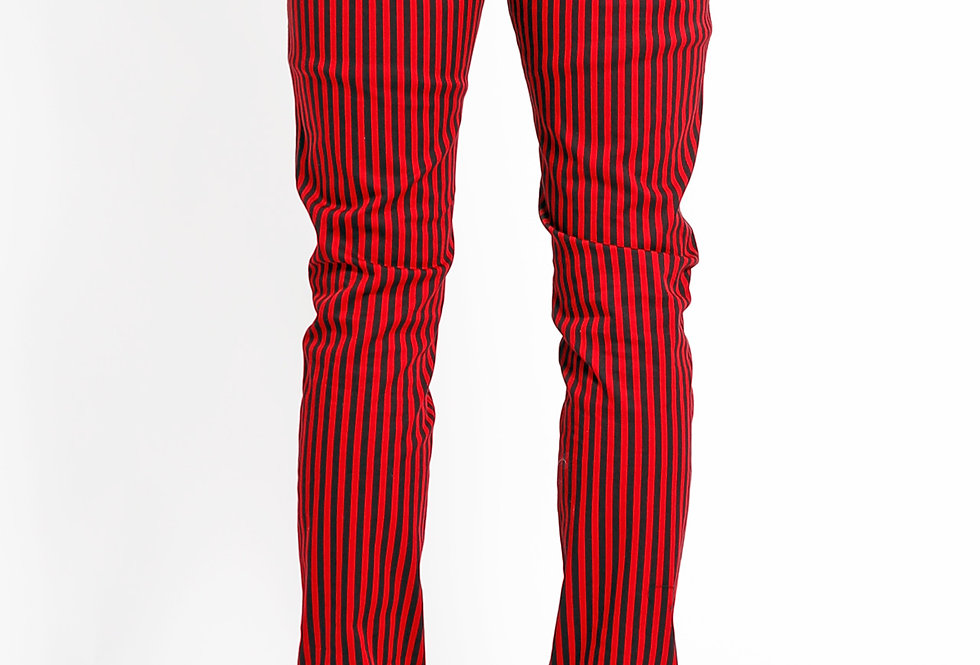 Tripp Red and Black striped pants