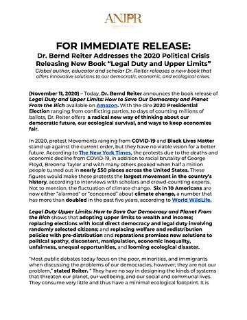 _FOR IMMEDIATE RELEASE _ Dr. Bernd Reite